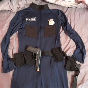 Long sleeve one piece police outfit